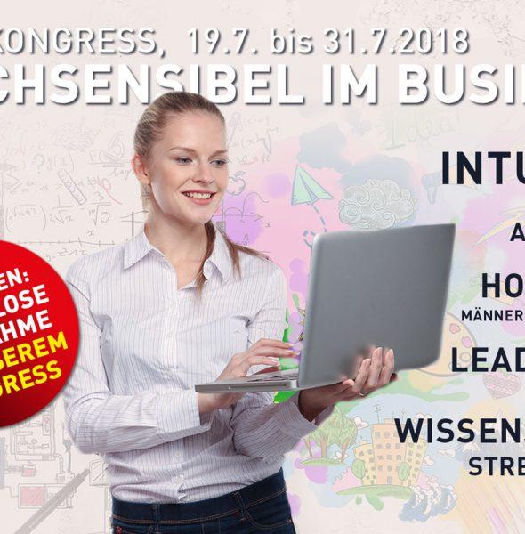 """Expertentalk zum Online Kongress """"Hochsensibel im Business"""" 15.-17.09.18"""